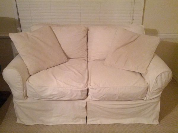 Slip Cover (Pottery Barn STYLE) Cindy Crawford couchloveseat - $400 (Ponchatoula)