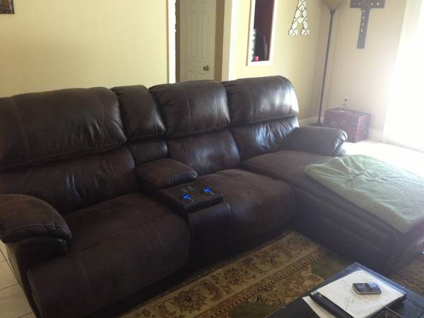 Automated Reclining Couch (with heat and massage) with Chaise Lounge - $1850 (Denham Springs)