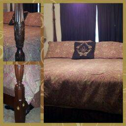 Councill Solid Mahogany King Rice Poster Bed - $800 (Park Forest)