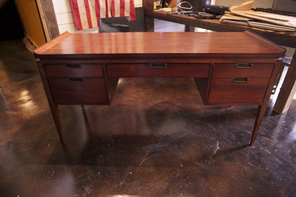 Solid hardwood Desk bought from the Christian Street Furniture - $750