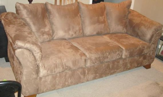 Ashley Microfiber Couch For Sale
