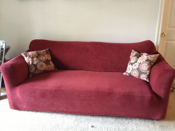 Couch Loveseat with fitted covers - $150 (Perkins Essen)