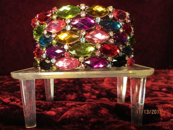 Multi-colored Jeweled Hinged Bracelet  -   x0024 10  Baton Rouge