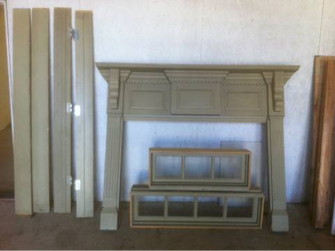 Vintage fire place mantle -   x0024 850