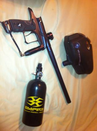 Dangerous Power G4 Paintball gun with tank and hopper - $300 (Denham Springs)