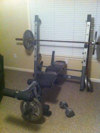 Marcy Elite Weight Bench and Olympic Bar - $100 (Baton Rouge)