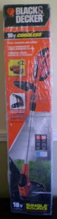 NEW Black and Decker 18v Cordless Trimmer and Edger 12in - $65 (Baton Rouge)