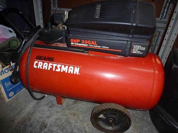 Sears 33Gal Pro Series compressor 6hp 240V 125PSI - $265 (Baton Rouge)