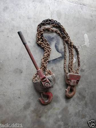 Chain Hoist Yale Ratcheting Hand Lever Come Along 6 Ton 7 Chain - $100 (Baton Rouge, LA)