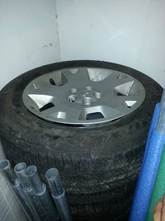 STOCK DOGE CHARGER RIMS AND TIRES FOR SALE - $600 (Lutcher, LA)