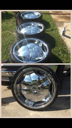 22 Tyfun TW001 Rims EXCELLENT - $300 (Baton Rouge)