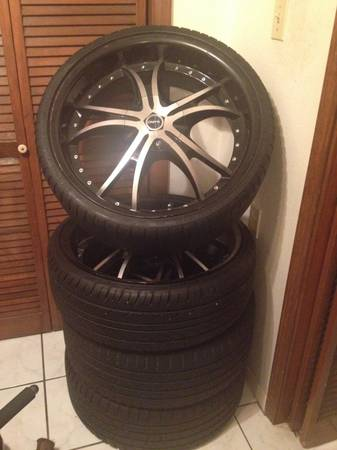 22 Onyx Rims and Tires - $1200 (Baton Rouge)