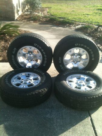 16 inch toyota tacoma rims and tires - $425 (Gonzales, LA)