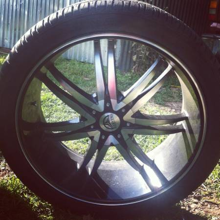 24 Bentchi black and machine rims for GMC and Chevy vehicles - $1000 (Albany, La)