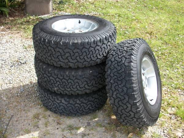 Tires Wheels 31X10.5X15 AT - $500 (St. Francisville)
