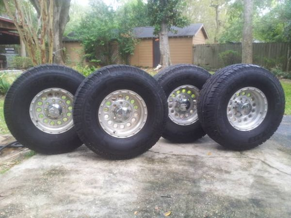 4 Big Truck Tires and Wheels - $800 (Baton Rouge)