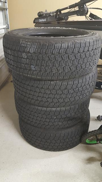 500  4 Goodyear Allterrain tires