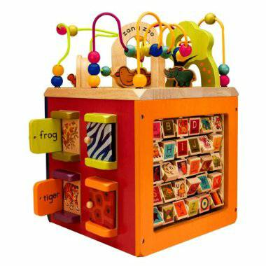 Zany Zoo Wooden Activity Cube - $10 (St. Francisville)