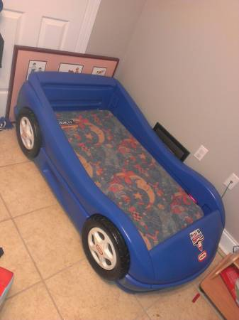 Little Tykes Toddler Race Car Bed (Blue) - $30 (Walker, LA)
