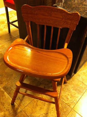 All Wood High Chair -   x0024 50  Walker