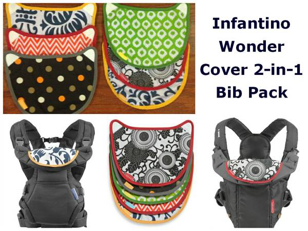 Infantino Wonder Cover 2-in-1 Bib Pack - $5