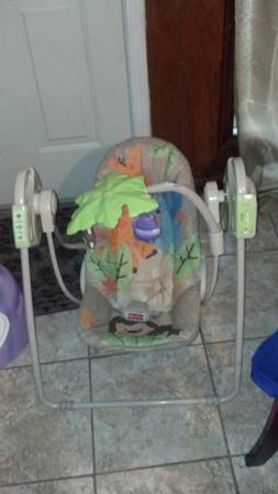 Fisher Price Portable Swing-Jungle Themed - $15 (Near SiegenPerkins)