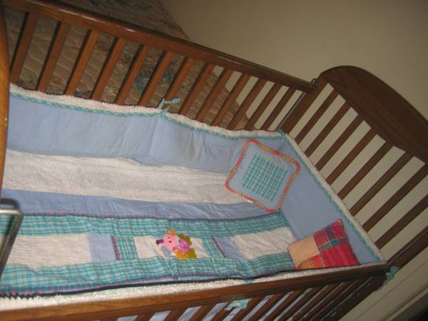 Moving out sale-Crib Matress crib bedding set cradle swing walker toys -   x0024 1  LSU Area