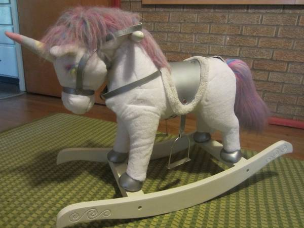 Rocking Horse --Chrisha Playful Plush - $15 (mid city BR)