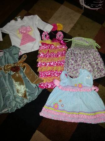 lots of girl baby items....clothes, misc items, shoes, saucer, etc...sizes 3-91 (prairieville)