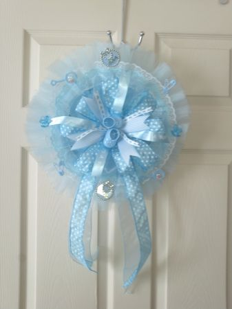 Welcome baby wreathdoor hanger - $30