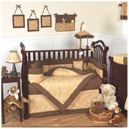 Camel Paisley Crib Bedding Set by JoJo Designs - $60 (Denham Springs)