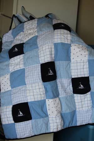 Boy Crib Bedding - Nautica William - $80 (Gonzales, LA)