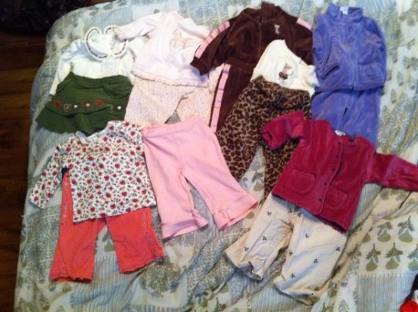 7 baby girl gymboree outfits - $35 (central)