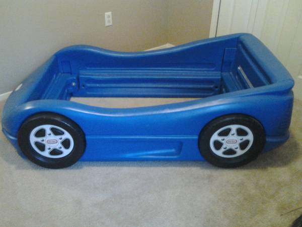 Little Tikes Blue Race Car Bed Frame - $70 (Siegen Lane)