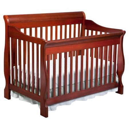 Canton 4-in-1 Convertible Crib, Cherry by Delta - $210 (Baker, LA)