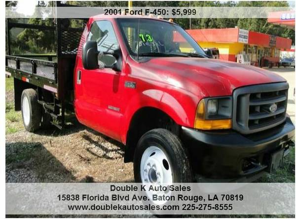 2001 FORD F450 DIESEL 7.3L FLAT BED SUPER SUTY POWER STROKE - $5999 (DOUBLE K AUTO SALES )