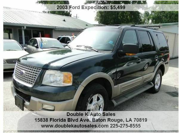 2003 FORD EXPEDITION EDDIE BAUER THIRD ROW SEATING - $5499 (DOUBLE K AUTO SALES )