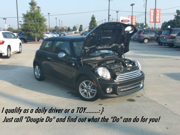 Black on Black. . .. . .MINI COOPER Come see Dougie Do - $20395 (13200 Airline Hwy)