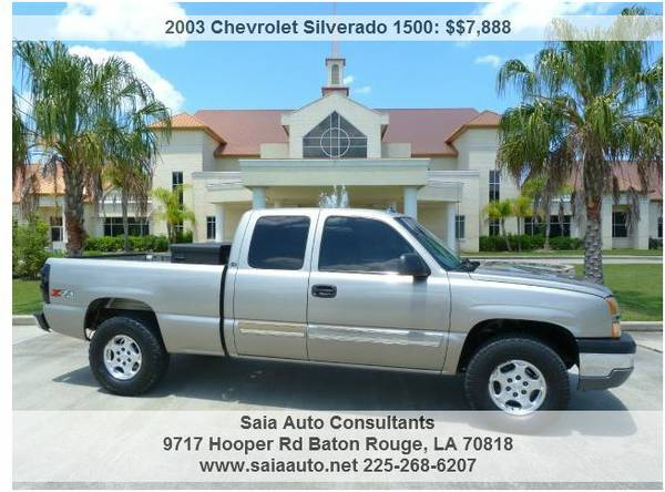 965896682003 Chevrolet Silverado 1500 LS 4WD - Cloth, Clean, Work - $7888 (Baton Rouge)