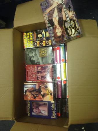 Box of Playboy Penthouse VHS -   x0024 50  BR
