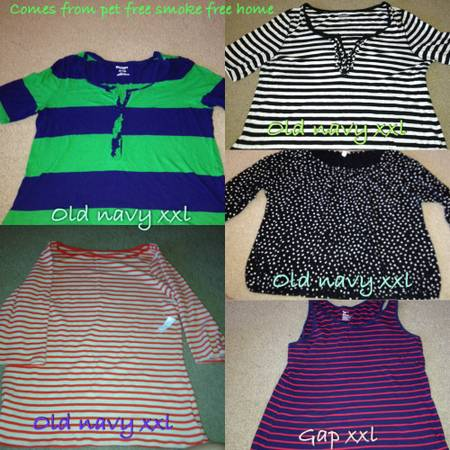 xxl womens shirts 4 old navy 1 gap - $15 (Denham springs)