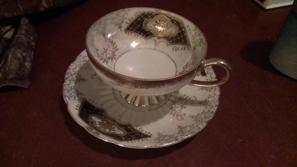 Royal Sealy China Cup Saucer -   x0024 30  Baton Rouge