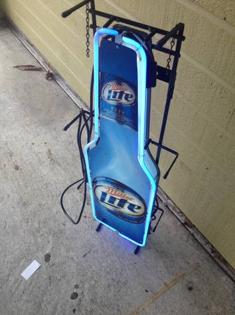 New Miller Light Beer and Camel Neon Sign - x0024150 (CourseyBaton Rouge)