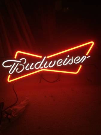 Budweiser  Etc Neon Beer Signs -   x0024 75  New Roads