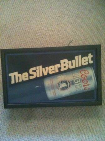 Coors Silver Bullet lighted Sign -   x0024 35  Gonzales
