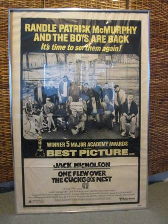 One Flew Over The Cuckoo s Nest Original Framed Movie Poster -   x0024 30  Baton Rouge