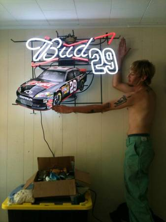Neon nascar signs for sale