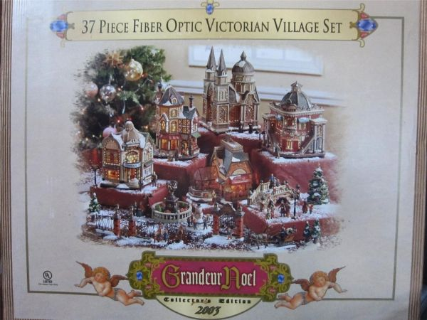Grandeur Noel 37 piece Fiber Optic Victorian Christmas Village set 03 - $90 (Central, LA)
