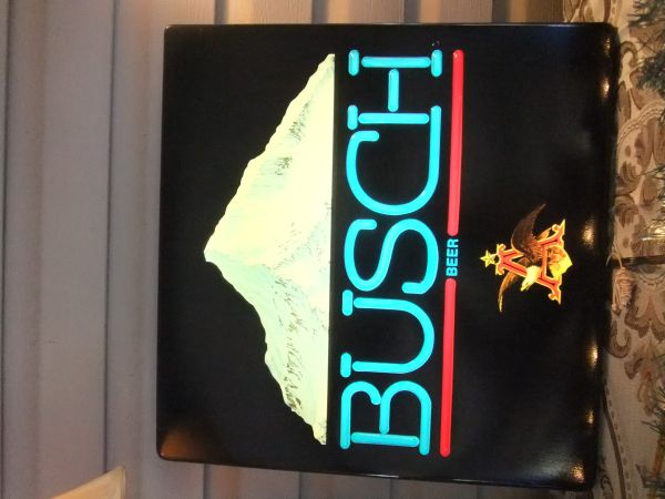 RARE Buschs light-up beer sign - $100 (Gonzales (225) 571-1679)