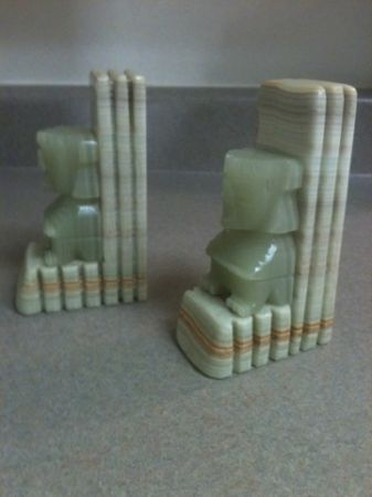 Vintage Marble and Jade Bookends - $100 (Baton Rouge,La. )